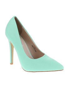 Utopia Basic Pointy Court Heels Green