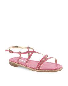 Utopia Binding Strappy Sandal Pink