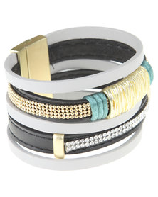 Utopia Weave Trim Bracelet Grey