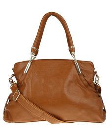 Utopia Panelled Leather Bag Brown