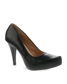 Utopia Pointy Heels Black