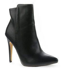 Utopia Pointy Ankle Boots Black