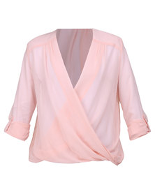 Utopia Wrap Blouse Pink
