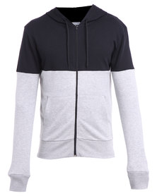 Utopia Colourblock Hoodie Grey