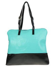 Utopia Two Tone Leather Bag Blue