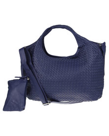 Utopia Hobo Weave Handbag Blue