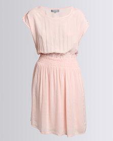 Utopia Tunic Dress With Belt Pink