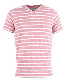 Mens V-Neck T-Shirt Pocket Burgundy