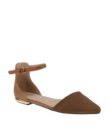 Utopia Suedette Pointy Shoe Neutral