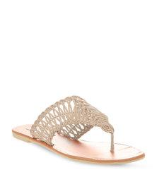 Utopia Weave Cut Out Sandals Beige