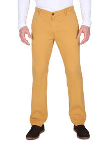 Utopia Slim Chino Pants Yellow