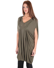 Utopia V Neck Top Green