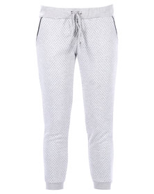 Utopia Quilted Joggers Grey