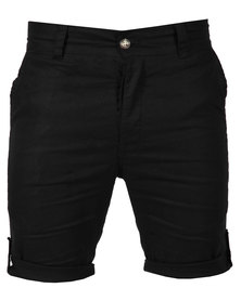 Utopia Linen Shorts Black