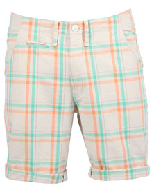 Utopia Check Shorts Orange