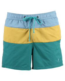 Utopia Colourblock Swimming Shorts Multi