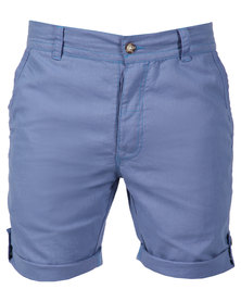 Utopia Linen Shorts Blue