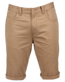 Utopia Five-Pocket Shorts Camel Brown