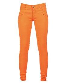 Utopia Club Stretch Pants Orange