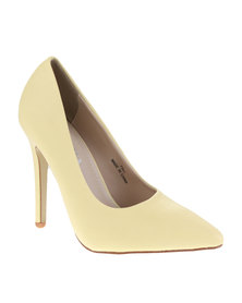 Utopia Basic Pointy Court Heels Yellow