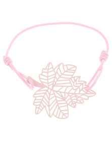 Utopia Autumn Leaf Elastic Bracelet Pink