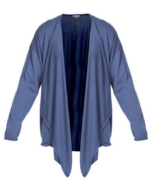 Utopia Fine Knit Cardigan Blue