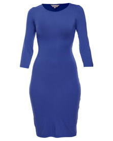 Utopia Wrap Back Dress Indigo