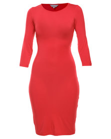 Utopia Wrap Back Dress Red