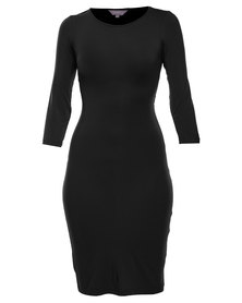 Utopia Wrap Back Dress Black