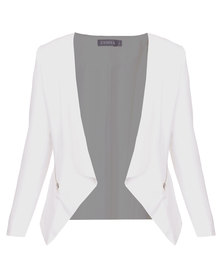 Utopia Blazer with Zips White