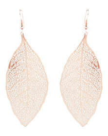 Utopia Leaf Drop Earrings Gold-Tone
