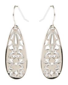 Utopia Vivian Drop Earrings Silver-Tone