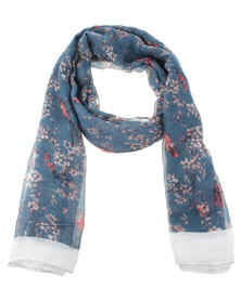 Utopia Hummingbird Scarf Blue