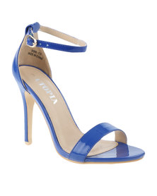 Utopia Patent Barely There Heeled Sandal Blue