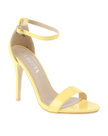 Utopia Patent Barely There Heeled Sandal Yellow