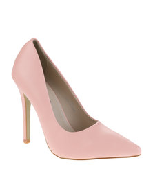 Utopia Basic Pointy Court Heels Pink