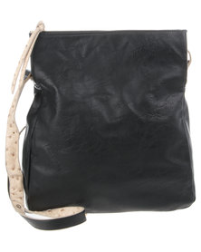 Utopia Slouch Ostrich Bag Black