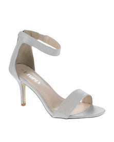 Utopia Plain Vamp Heels Grey