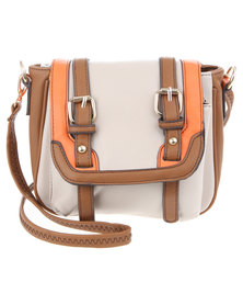 Utopia Cross Body Satchel Bag Beige