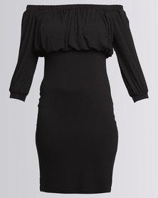 Utopia Off The Shoulder Sheath Dress Black