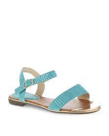 Utopia Embellished Sandals Green