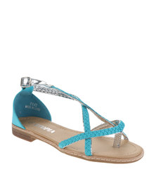 Utopia Weave Sandals Teal