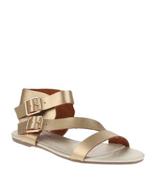 Utopia Asymmetrical Sandals Gold