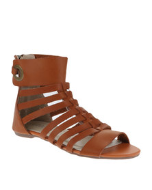 Utopia Gladiator Sandals Tan