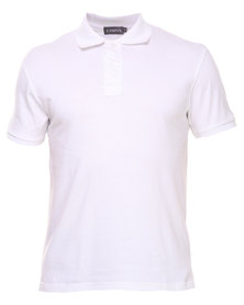 Utopia Polo Tee White