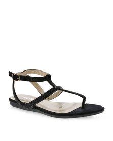 Utopia Strappy Embellished Sandals Black