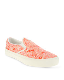 Utopia Printed Slip-On Sneaker Red