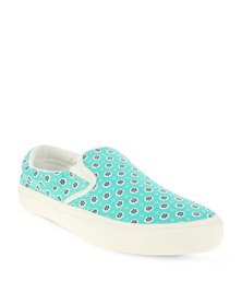Utopia Printed Slip On Sneaker Green