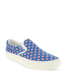 Utopia Printed Slip-On Sneaker Blue