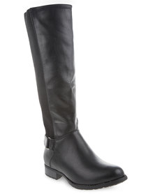 Utopia Elastic Riding Boots Black